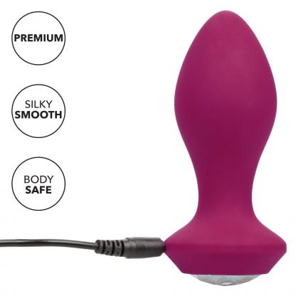 Power Gem Butt Plug Vibrating Crystal Probe
